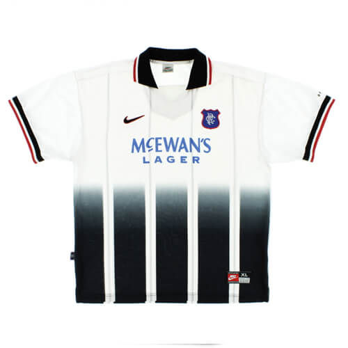 Retro Rangers Away Football Shirt 97 99