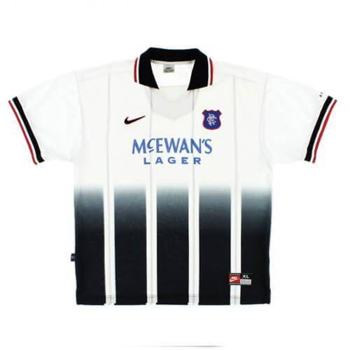 Retro Rangers Away Football Shirt 97 99
