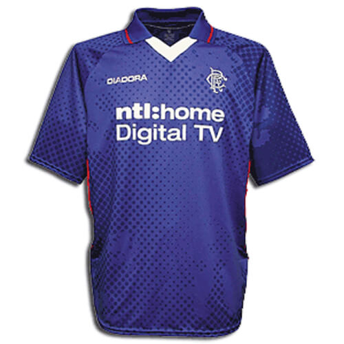 Retro Rangers Home Football Shirt 02 03