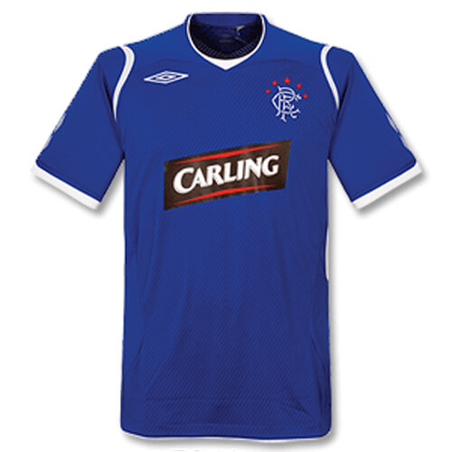 Retro Rangers Home Football Shirt 09 10