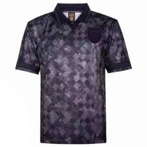 Retro England Blackout Football Shirt 90
