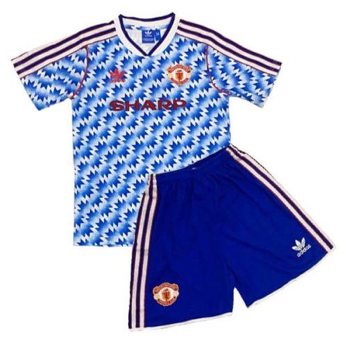 Retro Manchester United Away Kids Football Kit 9092