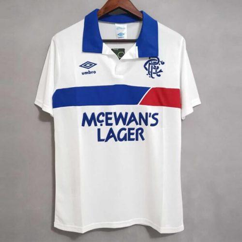 Retro Rangers Away Football Shirt 87 88