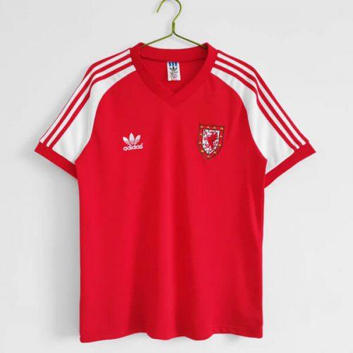 Retro Wales Home Football Shirt 82