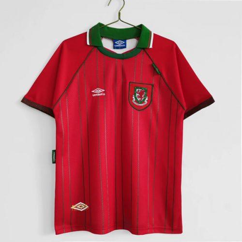 Retro Wales Home Football Shirt 94
