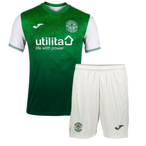 Hibernian Home Kids Football Kit 21 22