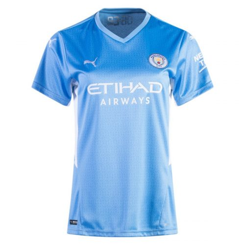 Manchester City Home Womens Football Shirt 21 22
