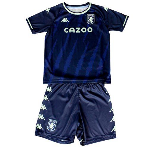 Aston Villa Third Kids Football Kit 21 22