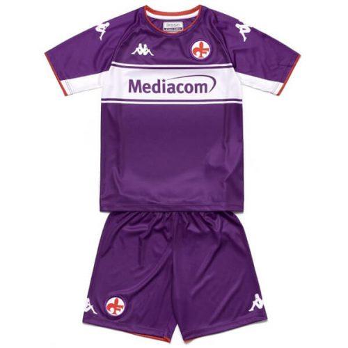 Fiorentina Home Kids Football Kit 21 22