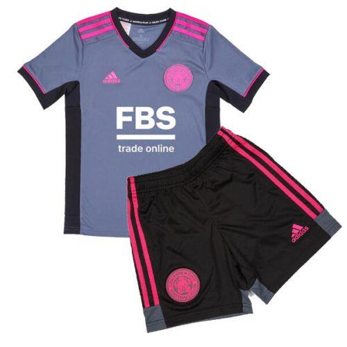 Leicester City Third Kids Football Kit 21 22