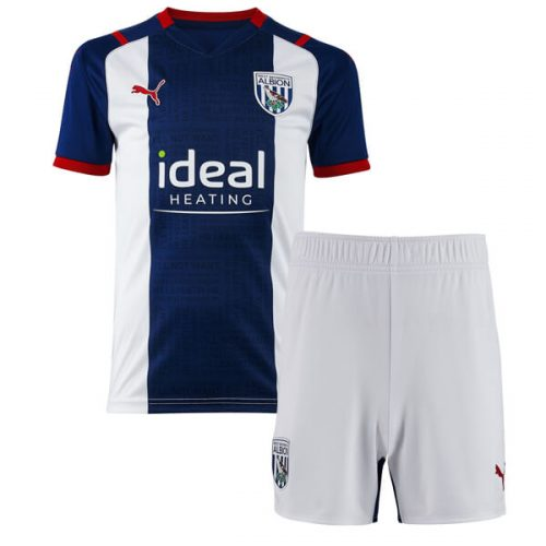 West Bromich Albion Home Kids Football Kit 21 22