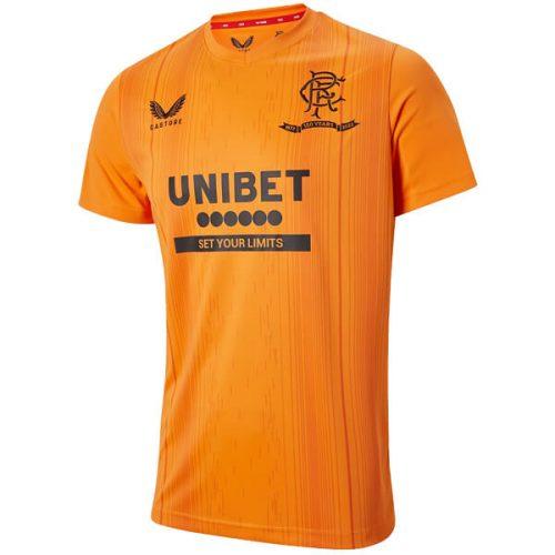 Rangers Pre Match Training Football Shirt - Orange